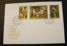Liechtenstein 595-97 Rubens Paintings Day Of Issue Cancel 1976 A04s - FDC