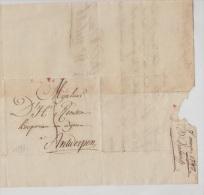 PRECURSEUR - DE BXL PR ANVERS 1798 + 94 BRUXELLES ROUGE - 1794-1814 (French Period)