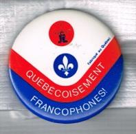 Insignes Québec Conférence Des Minorités Francophones Liege 1973 + Lys Stylisé - Pin's