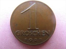 Coin Republic Of Austria 1 Groschen 1927 - Oostenrijk