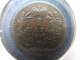 Coin 1 Para 1868(Mihajlo Obrenović-the First Coin Of The Modern Serbian Numismatics) KM-1 - Serbia