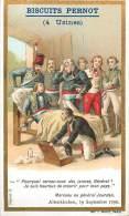Chromos Réf. D422. Biscuits Pernot - Marceau, Général Jourdan, Lit - Pernot