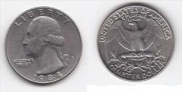 ETATS UNIS * QUATER DOLLAR *WASHINGTON*ANNEE 1984 - Émissions Fédérales
