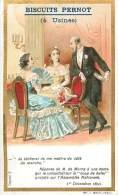 Chromos Réf. D449.  Biscuits Pernot - M. De Morny, Dame, Coup De Balai, Assemblée Nationale - Pernot
