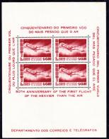 BRESIL - BLOC FEUILLET N° 12-NEUF XX CINQUANTENAIRE PREMIER VOL SANTOS DUMONT -1956 - Blocks & Sheetlets