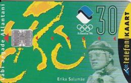 Estonia, ET 034, Erika Salumäe, Sport, Olympics, 2 Scans. - Estonia