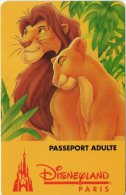 Passeport Adulte DISNEYLAND Paris : Le Roi Lion Validité 1 Jour Du 160395 Au 100495 Etat Courant Utilisé Très Propre - Disney