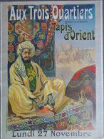 AFFICHE AUX TROIS QUARTIERS PARIS BOULEVARD DE LA MADELEINE- - Affiches