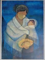 AFFICHE  TOFFOLI - FEMME A L' ENFANT - Affiches