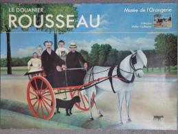 AFFICHE  LE DOUANIER ROUSSEAU - PARIS MUSEE DE L� ORANGERIE-LA CARIOLE DU PERE JUNIET- WALTER GUILLAUME COLLECTION