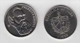 MD2312 CUBA UNC 2002 1$ CU-NI GERMANY COMUNIST FEDERICO ENGELS - Cuba