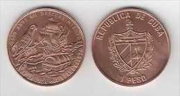 MD2334 CUBA UNC 1994 1$ COPPER DICOVERY PINES Is. SHIP. BIRD. KUBA - Kuba