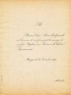 BRUGGE  / FAIRE PART / 1871 / FAMILIES SIRON / TULPINCK / LESCRAUWAET - Wedding