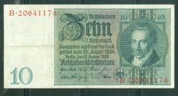 Allemagne 10 Reichsmark 1929., Etat 5/10 - Laurabil0203 - 10 Mark