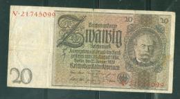 Allemagne - Deutschland / 20 Reichs Mark 1929 - Weimarer Republik., Etat 4/10 - Laurabil0205 - [ 3] 1918-1933: Weimarrepubliek
