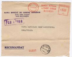 Bucuresti 1989 - Banca Romana De Comert Exterior -  Affrancatura Meccanica EMA Meter Freistempel - Marcofilia - EMA ( Maquina De Huellas A Franquear)