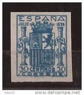 ESNE56-L4042TESSC.España. Spain Espagne.ESCUDO DE ESPAÑA.1936/7. (Ed NE 56**).sin Charnela.LUJO - Sin Clasificación