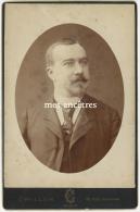 Grand CDV (cab) Identifiée Vers 1880-Albert Mathon époux D'Amandine AUBRY Négociant Rue St Georges Nancy-photo Crillon - Foto