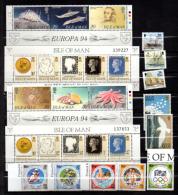 Ile De Man 1994-95, Petit Lot De Timbres ** , Faciale 11,50 £**, - Man (Insel)