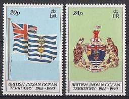 B.I.O.T. 1990 - 25e Ann De BIOT - 2v Neufs // Mnh CV €15.00 - Territoire Britannique De L'Océan Indien