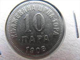 Coin Kingdom Of Montenegro  10 Para 1908 - Joegoslavië