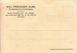STORIA POSTALE CARTOLINA POSTALE  AVV.FERNANDO ALBA PATROCINANTE IN CASSAZIONE - Posta