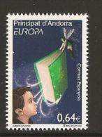 """ANDORRA ESPAÑOLA  - EUROPA 2010 -TEMA ANUAL """" LIBROS INFANTILES"""".- SERIE 1 V: -  DENTADOS(PERFORATED) - Europa-CEPT"""