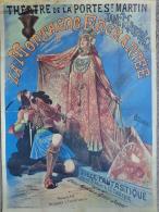 75- PARIS - AFFICHE THEATRE DE LA PORTE ST MARTIN PARIS- LA MONTAGNE ENCHANTEE-MESSAGER LEROUX - Affiches
