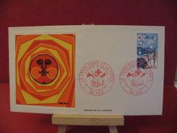 FDC, Croix Rouge & La Poste,sérigraphie De Larcher - 64 Pau - 30.10.1974 - 1er Jour - - FDC