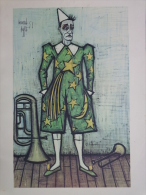 AFFICHE BERNARD BUFFET 1955- CLOWN AU SAXOPHONE CLAIRON- CIRQUE - Affiches
