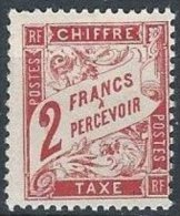 FRANCE - 2 F. Rouge-orange Neuf FAUX - Taxes