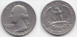 ETATS UNIS * QUATER DOLLAR *WASHINGTON*ANNEE 1972 - Émissions Fédérales