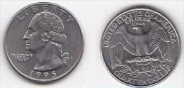 ETATS UNIS * QUATER DOLLAR *WASHINGTON*ANNEE 1995 D - Émissions Fédérales