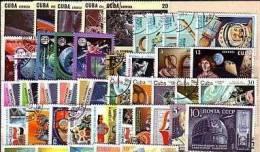 COSMOS ESPACE Lot De 100 Timbres Tous Differents Neufs Et Oblitérés. Satisfaction Assurée - Collections