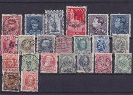 BELGIUM - Lot Of  22 Stamps  Old / Obliterated - Briefmarken