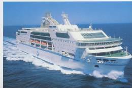 Cruise Ferry Danielle Casanova (SNCM) En Pleine Mer - CP - Bateau Navire Transtlantique - Boat Ship Boot - Paquebots