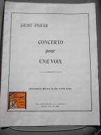 Partition Concerto Pour Une Voix  Saint Preux  éditions Musicale Fantasia - Non Classés