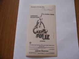 Adesivo Cineadesivo Film Geppo Il Folle Adriano Celentano Claudia Mori. - Altre Collezioni