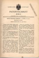 Original Patentschrift - A. Schilling In Grüna - Chemnitz I.Sa., 1884 , Handkulirstuhl , Flechterei , Strickerei !!! - Maschinen