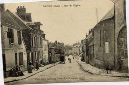 27 DANGU - Rue De L'Eglise - Animée, Café GUERAULT - Dangu