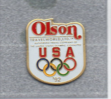 Pin´s  Sport  J.O  Des  U S A  1992  Avec  OLSON - Juegos Olímpicos