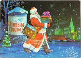 USSR. 1989. Happy New Year! Santa Claus. Père Noël. Ded Moroz - Santa Claus