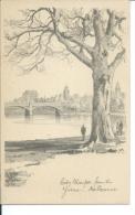 City Glimpse From The Yarra, Melbourne Australia, By Douglas Pratt, 1940´s To 1950´s Postcard # 8664 - Melbourne