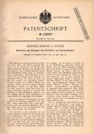 Original Patentschrift - H. Rödiger In Zossen , 1899 , Maschine Für Kuchenbleche , Kuchen , Bäckerei , Bäcker !!! - Maschinen