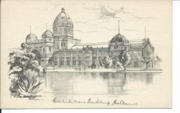 Exhibition Building, Melbourne Australia, By Douglas Pratt, 1940´s To 1950´s Postcard # 8667 - Melbourne