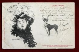 Leurs Chiens - Bergeret - Le Petit Chien De Ces Dames - Illustration - Dos écrit Et Timbré En 1903 - Dogs