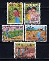 LAOS  - N° 824/828° - JOURNEE MONDIALE DE L'ALIMENTATION - Laos