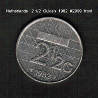 NETHERLANDS     2 1/2  GULDEN  1982  (KM # 206) - [ 3] 1815-… : Kingdom Of The Netherlands