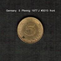 GERMANY    5  PFENNIG  1977 J  (KM # 107) - 5 Pfennig