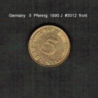GERMANY    5  PFENNIG  1990 J  (KM # 107) - 5 Pfennig